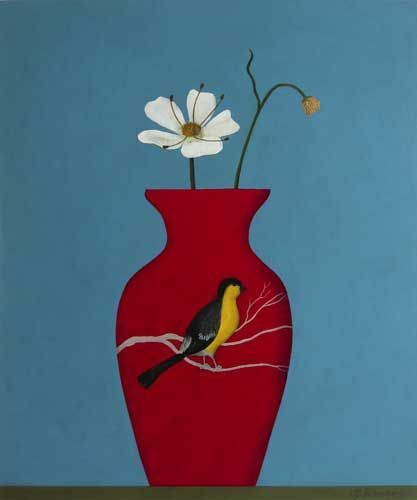 Red Vase Waiting